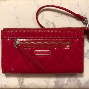 Red Liquid gloss Collection Coach Clutch